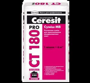Ceresit CT 180 Pro клеевая смесь МВ, 27кг