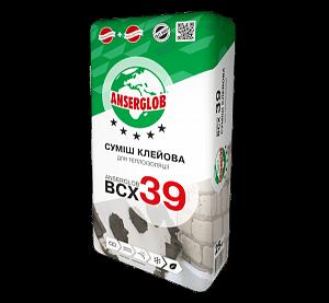 Anserglob ВСХ-39 клеевая смесь (ППС и МВ), 25кг